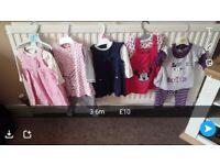 Girls clothes bundles sizes 3-6m or 12-18m sizes shown on pics, excellent condition.