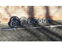 BODY POWER OLYMPIC WEIGHTS SET WITH 6FT or 7FT BAR160.00