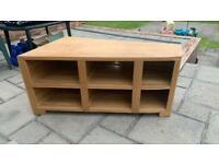 Handmade oak tv unit