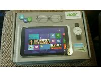 3 Acer icona w/ 3 tablets in boxes complete with chargers selling as spares