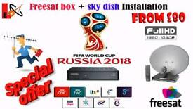 Freesat hd box + dish & installation