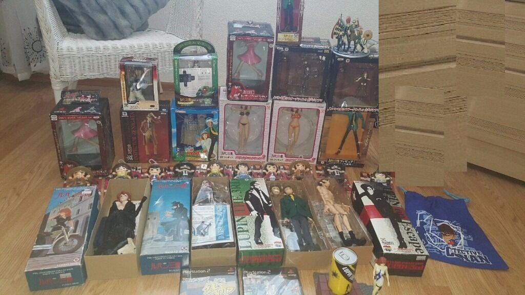 Huge Japanese Anime figure bundle, Lupinhello kittyariamorenot turtles, he manin Charlton, LondonGumtree - 90% is brand new and sealed!!! Mega deal here worth at least x3 as much but going abroad so need to sell soon. the little pop figures retail for around £30 each and as you can see I have lots of them, the dolls retail around £40 each. and the boxed...