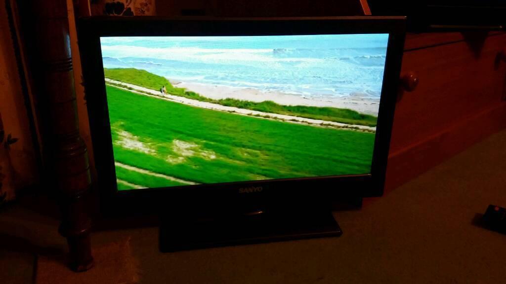 "Sanyo flat screen 18"" tv with Scart"