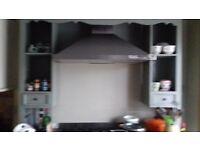 Wooden range cooker surround