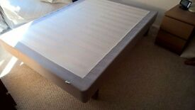IKEA Sultan double bed base with metal legs. Like new.
