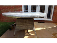 Brand New John Lewis Dante 6 Seater Outdoor Dining Table, Natural willow-effect finish.