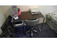 Computer Desk and Swivel Chair