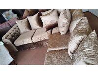 Crushed velvet corner sofa !!!NEW!!!