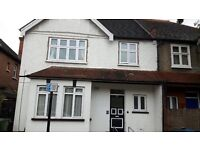 Unfurnished 2 bedroom first floor flat with private garden.