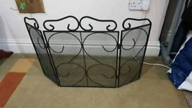 3 panel metal fire screen in very good condition