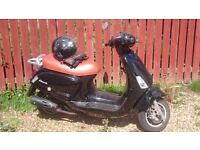 MOPED CPI BRAVO 50CC FULL SERVICE HISTORY RECENT MOT LOW MILEAGE INCLUDES HELMET AND ACCESSORIES