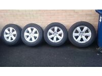 """4X GENUINE AUDI Q5 Q3 A4 A5 A6 A7 A8 17"""" ALLOY WHEELS AND TYRES IDEAL TO FIT WINTER TYRES ON"""