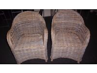 Wicker/Cane Chairs. Two Good Quality.