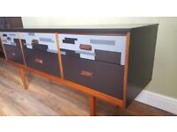 Mid centry Sideboard- hand painted