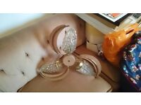 Vintage retro ceiling and wall lights