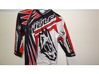 wulfsport race shirt motocross motox quad junior kids youth approx age 3-4 red black