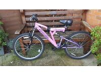 Reflex Rock Fox Dual Suspension Ladies Mountain Bike