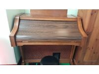 Lowery coronation organ with magic genie, stool & music books