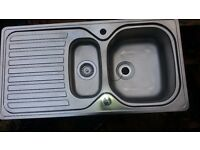 1 and 1/2 stainless steel kitchen sink