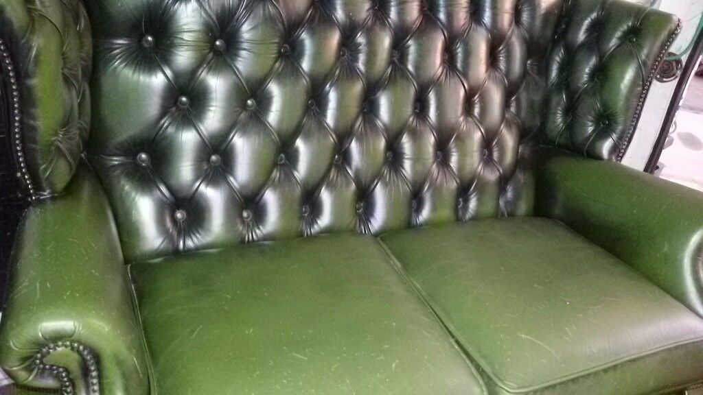 Chesterfield high back 2 seater