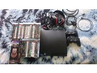 Play Station 3. Gioteck headset. 30 games