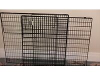 Black metal safety fire guard
