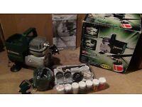 Air brush compressor +air brush kit/ brand new