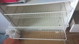 3 Ikea Komplement baskets with pull-out rail, white, 100x58cm