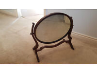 Victorian Dressing Table Mirror with mahogany frame