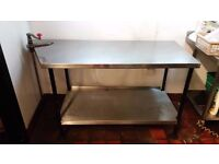 Stainless Steel Commercial Table Worktop with Can Opener