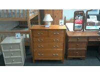 Chest of 5 drawers in light wood - British Heart Foundation