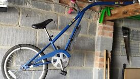 Tag a long childs bike.