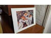 """Print of Paul Cezanne """"Apples and Oranges"""" in Glass No Show Frame"""
