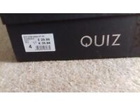 Quiz size 4 shoes. Lots of dimante sparkle! Matching bag available. Worn once