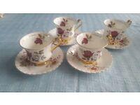 Vintage Royal Imperial Bone china / Gold Tea set