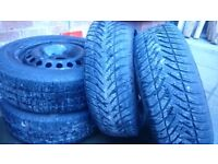 steel wheel with tires x4 - R16