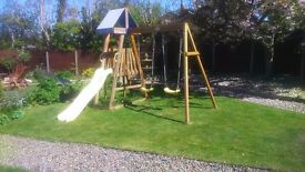 SOLD - Twin Swing and Slide (Plum)