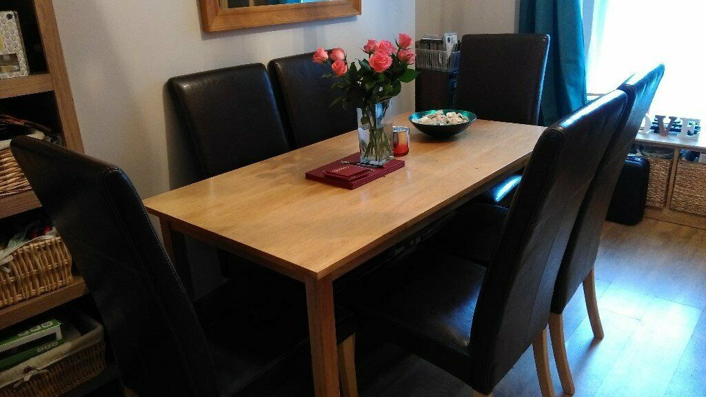 Dining Table 6 High Back Chairs Plymouth