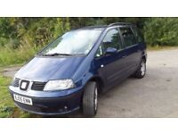 Seat alhambra reference tdi 2005 MOT august 2018