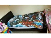 Brown leather bed frame for sale