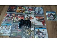 PS3 -13 games-cable and controller