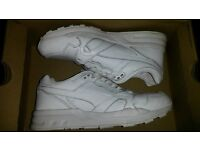 All white Puma running shoes trainers size 5
