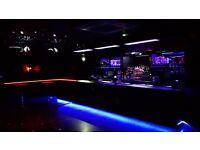 Busy nightclub recruiting weekend Bar staff - Immediate start.