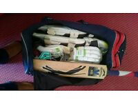 Mens right hand cricket gear