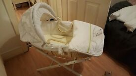 M&S Moses Basket c/w stand
