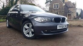 BMW 1 Series 2.0 118d SE 5dr, Metallic Grey, Manual, Alloys, superb inside and out, Tax Band C (£30)
