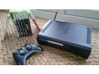 XBOX 360 with selection of TOP GAMES