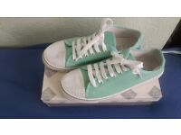 New Womens Beach Shoes, Pumps, Trainers - Pastel Mint GreenLace up shoes Size 9