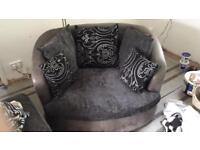 Swivel chair, sofa and puff for sale