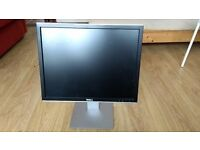 20.1 inch Dell UltraSharp monitor adjustable stand, no peripherals, collection only